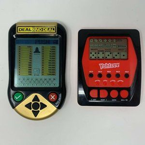 Two Handheld Games Yahtzee Hasbro Deal or No Deal